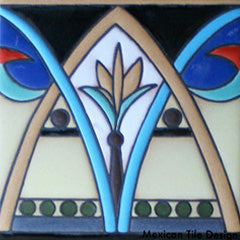 Prima Raised Relief Malibu Style Mexican Tile