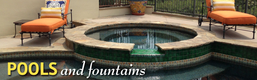 Outdoor mexican tile designs and pools