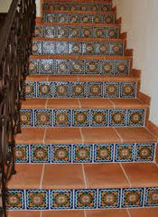 Genial ... Use A Single Pattern Of Mexican Tile On All The Risers, While On The  Third Example, Two Different Patterns Are Alternated On Every Other Step.