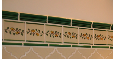 Mexican Tile wainscoting