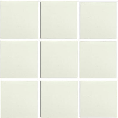 1 sq. ft. pure white Mexican tile