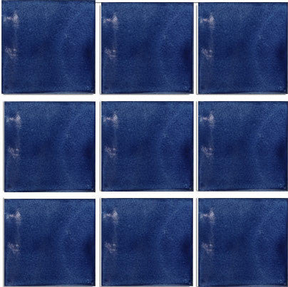 1 sq ft. bright cobalt blue Mexican tile