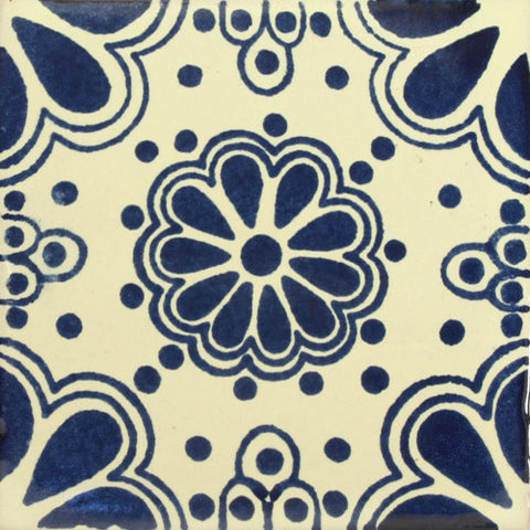 Traditional Spanish Blue Decorative tile