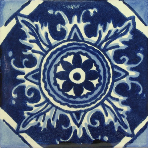Talavera Tile Tagged Colors Include Blue White
