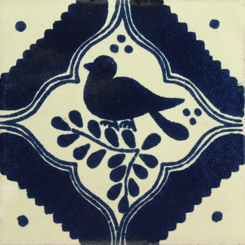 Sale- Traditional Mexican Tile - Pajaro Robin 6 x 6