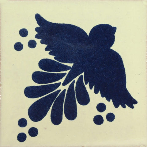 Traditional Decorative Mexican tile blue bird