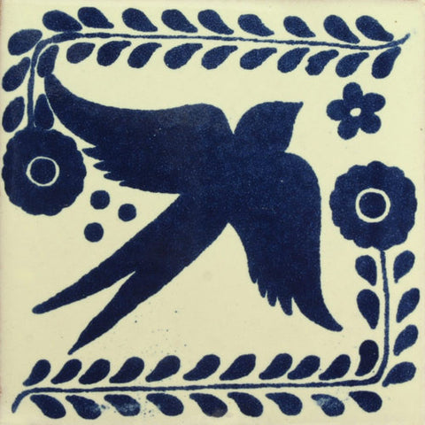 Traditional Decorative Mexican Bird Tile