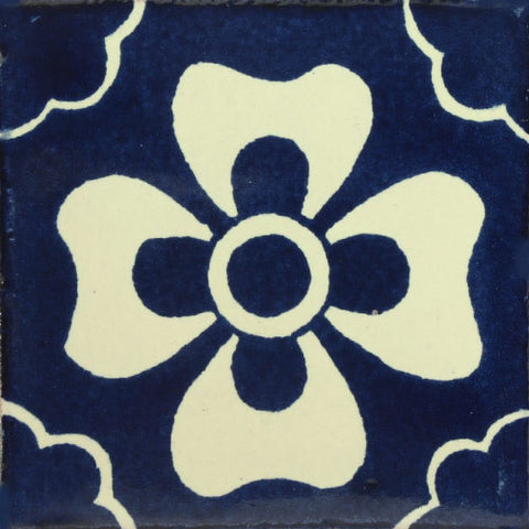 Traditional Mexican Decorative blue tile