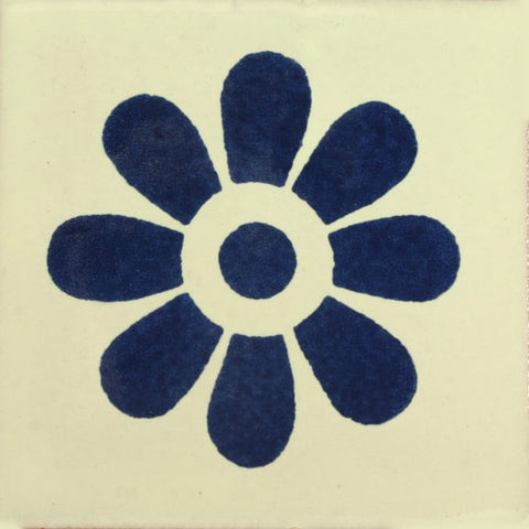 Traditional Decorative Mexican Tile - Flower