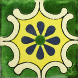 Traditional Mexican Tile - Arabesque Verde