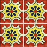 Traditional Mexican Tile - Arabesque Terra Cota