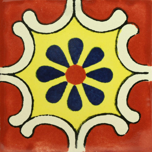 Traditional Mexican Tile Arabesque Terra Cota Mexican