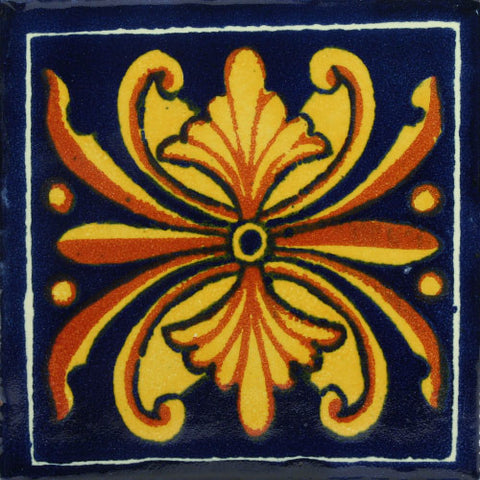 Traditional Mexican Tile - Flor Nacional