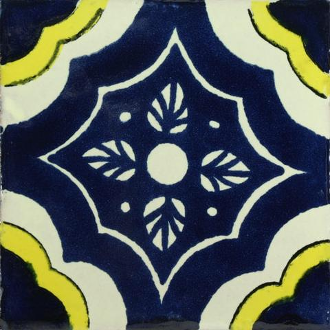 Sale decorative Mexican tile blue and yellow
