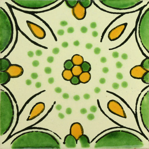 Traditional Mexican Tile - Honey Suckle