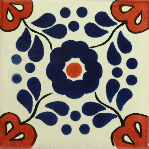 Traditional Mexican Tile - Hacienda Azul/Terra Cota