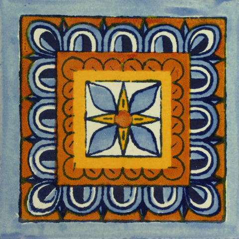 Traditional Mexican Tile - Rosa De Los Vientos
