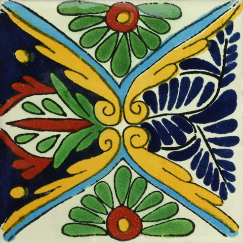 Traditional Decorative Mexican Tile Rosaura