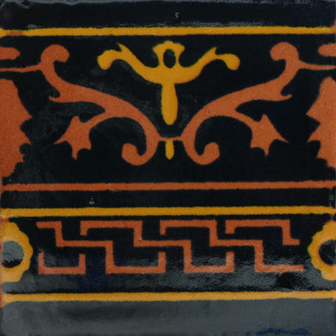 Mexican Tile-Border in gold and black