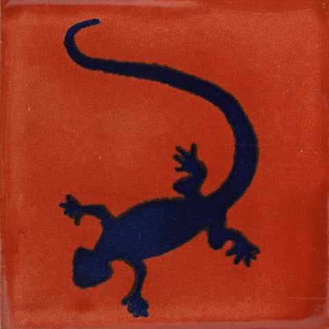 Traditional Decorative Mexican Tile - lizard