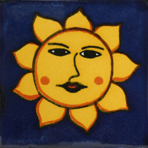 Traditional Decorative Mexican tile sun design