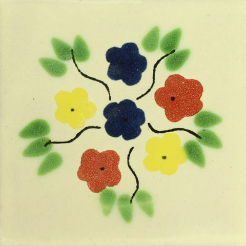 Traditional Mexican Tile - Bouquet