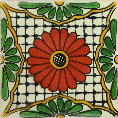 Traditional Mexican Tile - Flower