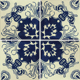 Traditional Mexican Tile - Escudo Azul