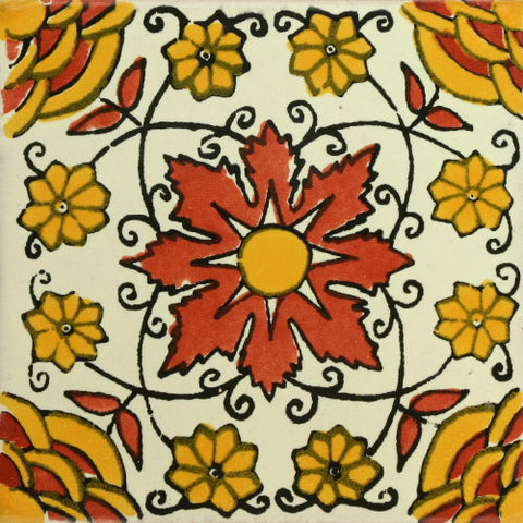 Traditional Decorative Mexican Tile Desert Rose