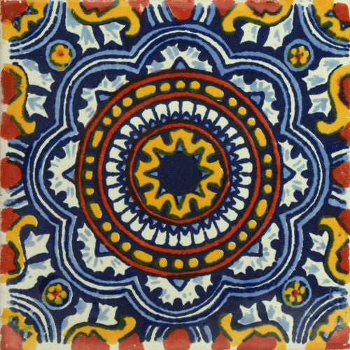 Traditional Mexican Tile Rosario I Mexican Tile Designs