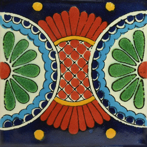Mexican Tile-Border green and terra cotta