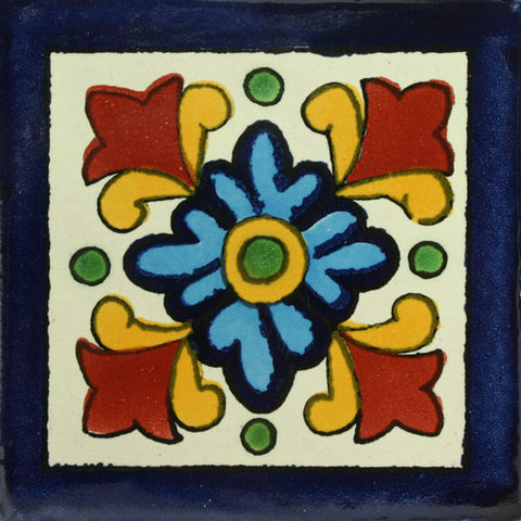 Traditional Mexican Tile - Hortencia