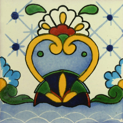 Mexican Tile-Border in light blue, yellow and turquoise
