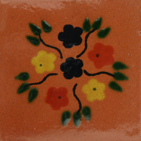 Traditional Mexican Tile - Bouquet Natural