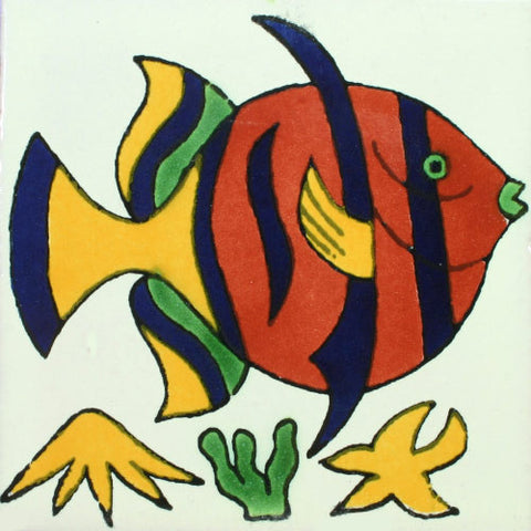 Traditional Decorative Mexican tile - Fish