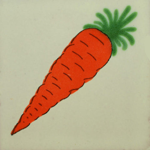 Traditional Decorative Mexican tile -Carrot