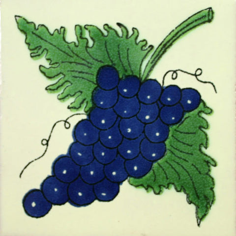 Traditional Decorative Mexican tile grapes