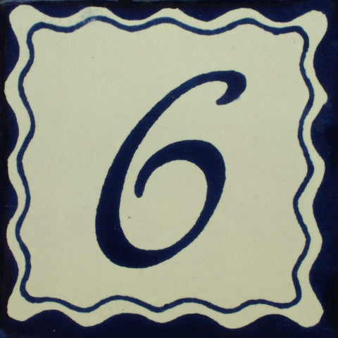 Mexican Tile Numbers Azul