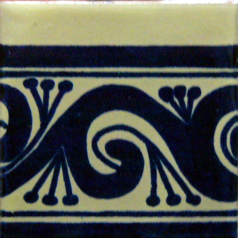 Mexican Tile-Border Decorative in Cobalt blue