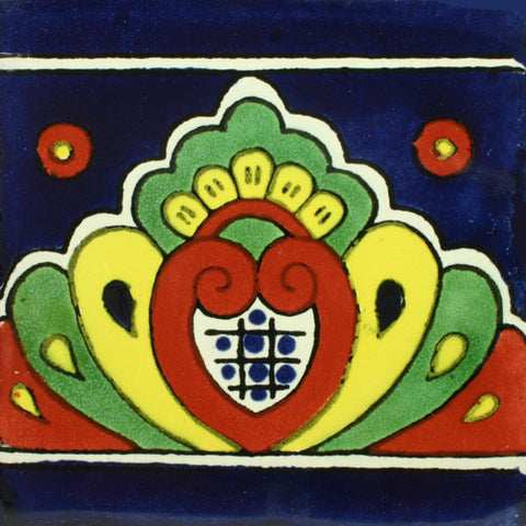 Mexican Tile-Border in blue, yellow and green