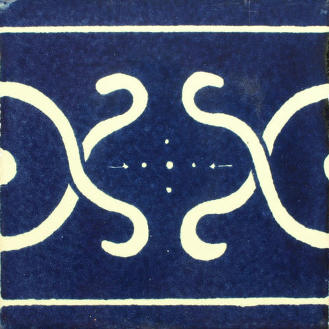 Mexican Tile-Border Decorative-Blue and White