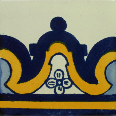 Mexican Tile-Border in blue and yellow