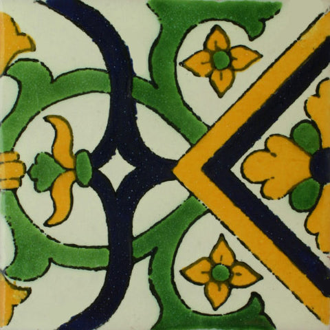 Mexican Tile-Border Decorative-Green and Yellow