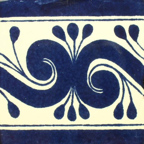 Mexican Tile-Border Decorative-Cobalt blue