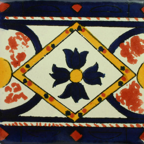 Mexican Tile-Border in turquoise, blue and yellow