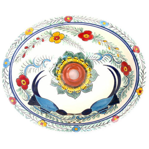 Traditional Mexican Sink-Girasol Y Aves