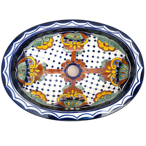 Traditional Mexican Sink-Puntos Y Flores
