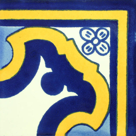 Mexican Tile-Border corner tile