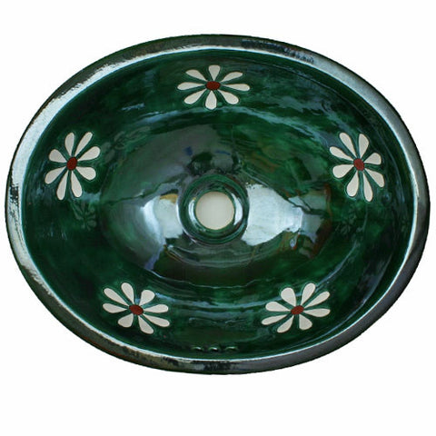 Traditional Mexican Sink- Amapola Verde