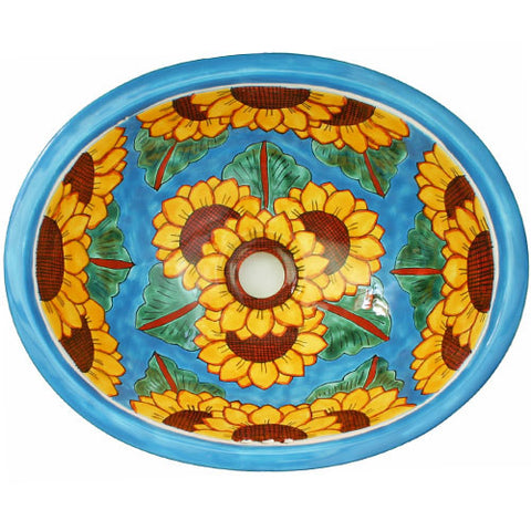 Traditional Mexican Sink- Cielo y Girasol